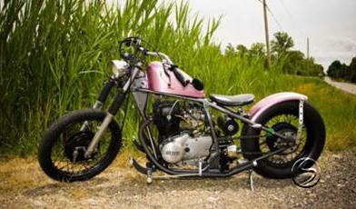 Classic Pink Bobber With Drag Bars