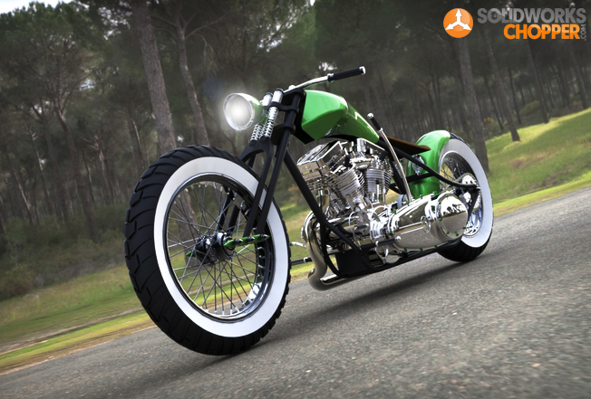 Sporter bobber tips bobber motorcycles solidworks chopper tutorial solutioingenieria Images