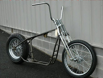 ironhead sportster bobber rolling chassis